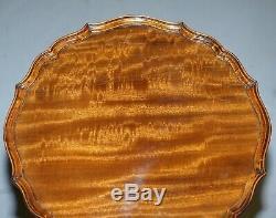 Superbe Pie Vintage Lumière Acajou Crust Bord De Trépied Fin De La Lampe À Table Vin