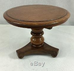 Table Trépied Miniature Vintage Chêne À Inclinaison Supérieure.
