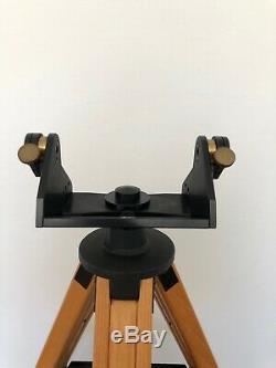 Téléscope Tele Vue En Bois Vintage Gibraltar Trépied En Cendre