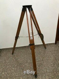 Théodolite Trépied En Bois Vintage Survey Support Trépied Max Hauteur 130 CM