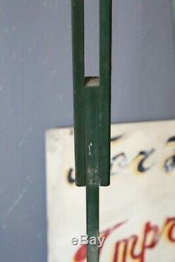 Trépied Arpenteur Vintage En Bois Arpentage Antique Base De Lampe Industrielle Transit 59