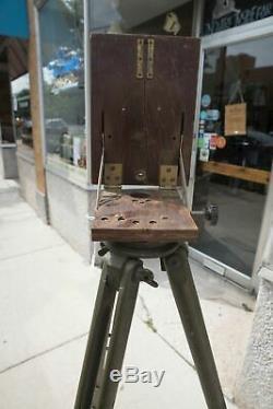 Trépied D'arpentage D'arpentage D'arbre Vert De L'armée Américaine Dietzgen Vintage - Rare! Cmb