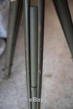 Trépied D'arpentage D'arpentage Réglable En Vert De L'armée Américaine Dietzgen Vintage! Cmb