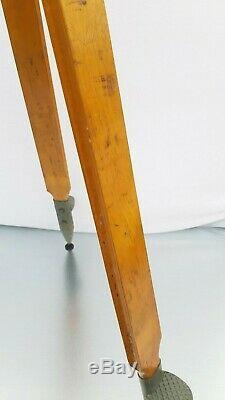 Trépied En Bois Solide Big Lourd Réflecteur Support Industriel Loft Vintage Max 155cm