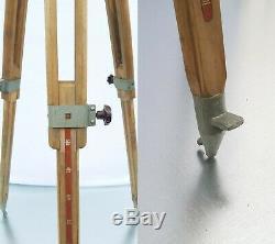 Trépied En Bois Solide Big Lourd Réflecteur Support Industriel Loft Vintage Max 190cm