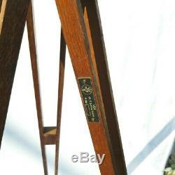 Trépied En Bois Vieux Réflecteur Stand Lampadaire Design Industriel Loft Vintage