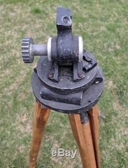 Trépied En Bois Vintage Camart Scout Surveyors Rare Antique