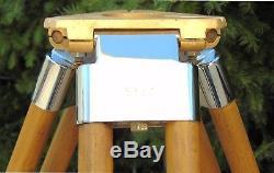 Trépied En Bois Vintage Pzo Stg-3 Rénové, Loft Théodolite, Mise À Niveau, Lampe