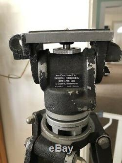 Trépied En Bois Vintage Universal Fluid Head & Universal Fluid Heads Australie