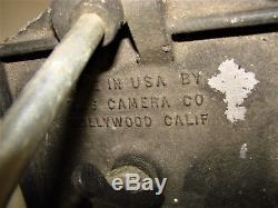 Trépied En Laiton De Bois Vintage Avec Modèle Ries A Tête De Photoplane Hollywood