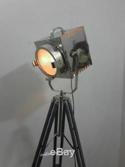 Trépied Gris Vintage Pour Projecteur, Projecteur Authentique Hollywood