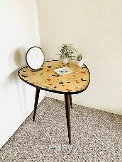 Trépied, Milieu Du Siècle, Plante, Table, Présentoir, Côté, Table Basse, Table, Millésime