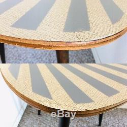 Trépied, Milieu, Siècle, Plante, Table, Présentoir, Côté, Table, Bout, Millésime, Rayon Soleil