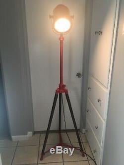 Trépied Projecteur Lampadaire Vintage Retro Jambes Légères L'industrie Du Bois