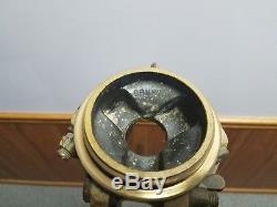 Trépied Vintage Ancien En Bois Brunson Base Industrielle 5 Pieds Surveyor