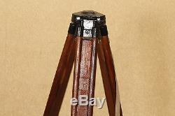Trépied Vintage En Bois Fabriqué En Urss Pour L'appareil Photo Theodolite Nivelir