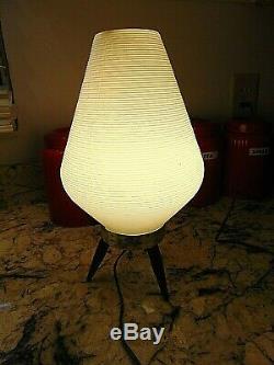 Trépied Vintage MID Century Modern Beehive Lampe Blanche