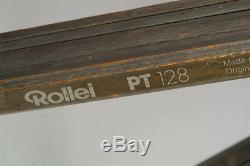 Trépied Vintage Vintage Berlebach Rollei Pt 128 En Bois + Tête Gitzo Rno2