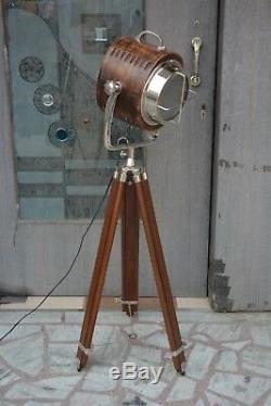 Uk Modèle Des Années 1950 En Bois Studio Vintage Design Industriel Lampadaire Trépied En Bois