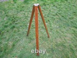 Vintage Antique Camera Trépied En Bois Télescopique Facilement Ajusté