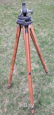Vintage Camart Scout Arpenteurs Trépied En Bois Rare Antique
