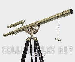 Vintage En Laiton Massif Réglable En Laiton Trépied Maritime Telescope Capitainerie