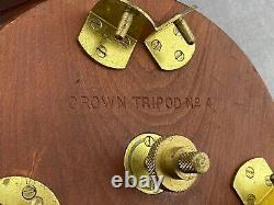 Vintage Folmer Graflex Crown Tripod #4, Pour 8x10 4x5 5x7 Grand Format,