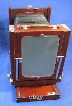 Vintage Gundlach Korona Caméra Pliante En Bois Et Trépied Original