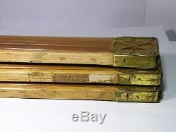 Vintage Kodak Trépied, Plume Pieds En Bois / Raccords En Laiton + Étui D'origine