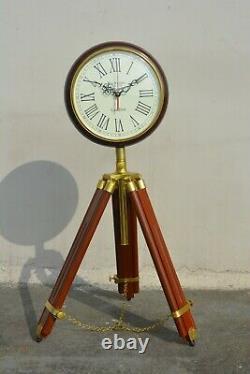 Vintage Marine Wall & Floor Horloge En Bois Avec Trépied Home Décor