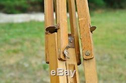 Vintage Rare Pliage Soviétique Bois Trépied Pour Appareil Photo Fkd Russe