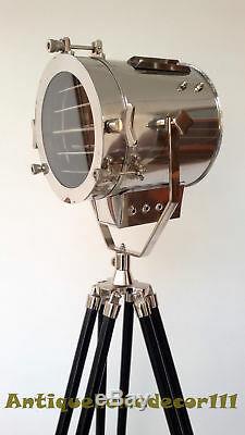 Vintage Retro Theater Spot Light Lampe Trépied Sol En Bois Décoratifs Pour La Maison 1940
