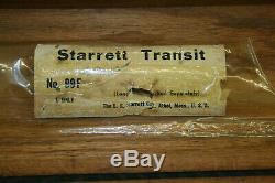 Vintage Starrett Transit 99f, Cas En Bois, Bob & Plumb Starrett Tripod