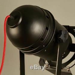 Vintage Trépied Floorlamp Nautique Projecteur Industriel Décor En Bois Lightfixture