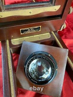 Vintage Wood Eastman 5x7 Voir La Caméra N ° 2-d Avec Trépied & Case