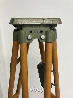 Vintage Wood Tripod Décor Rustique Transit Light Stand Survey Industrial Wooden Uk