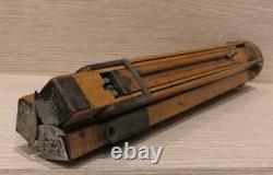 Vintage Wood Tripod Trépied En Bois Zeiss Ikon + Sac Cas