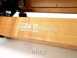 Vintage Zone VI Trépied En Bois Heavy Duty Grand Format Tripod Legs Needle Points