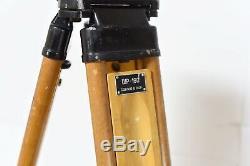 Vtg Bois Trépied Transit Réglable Pour Théodolite Niveau Lampe Support De La Caméra