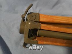 Vtg Trépied Militaire En Bois Et Métal Réglable 35-63 Seconde Guerre Mondiale Ou I Jumelles / Caméra