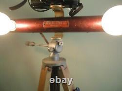 Vtg Wooden Camera Tripod W Lumières Amovibles Pour Caméra Avec Mayfair Multi-lite