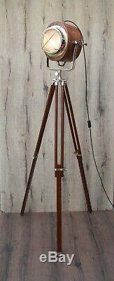X Grill En Bois Design Vintage Industrial Tripod Lampadaire